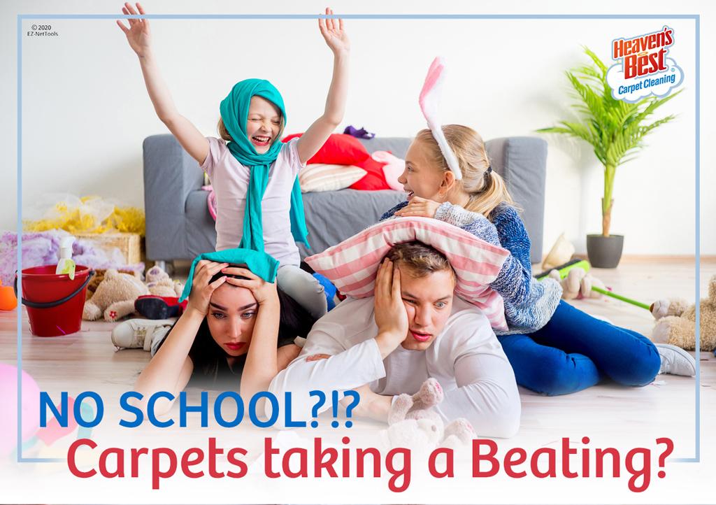 no school=messy carpet