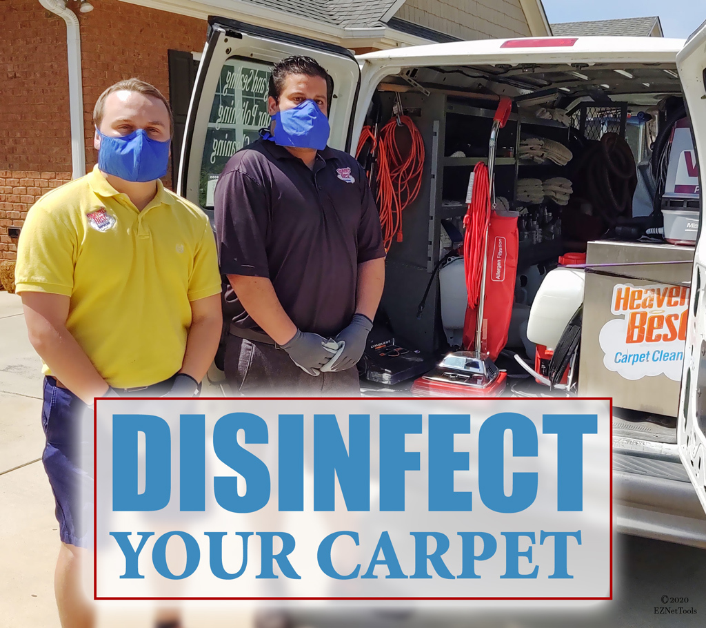 disinfect your carpet.